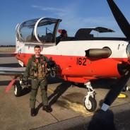 "December, 2014: Brian Prentice, ""Hangar Rat"", Soloed a T6 Texan"